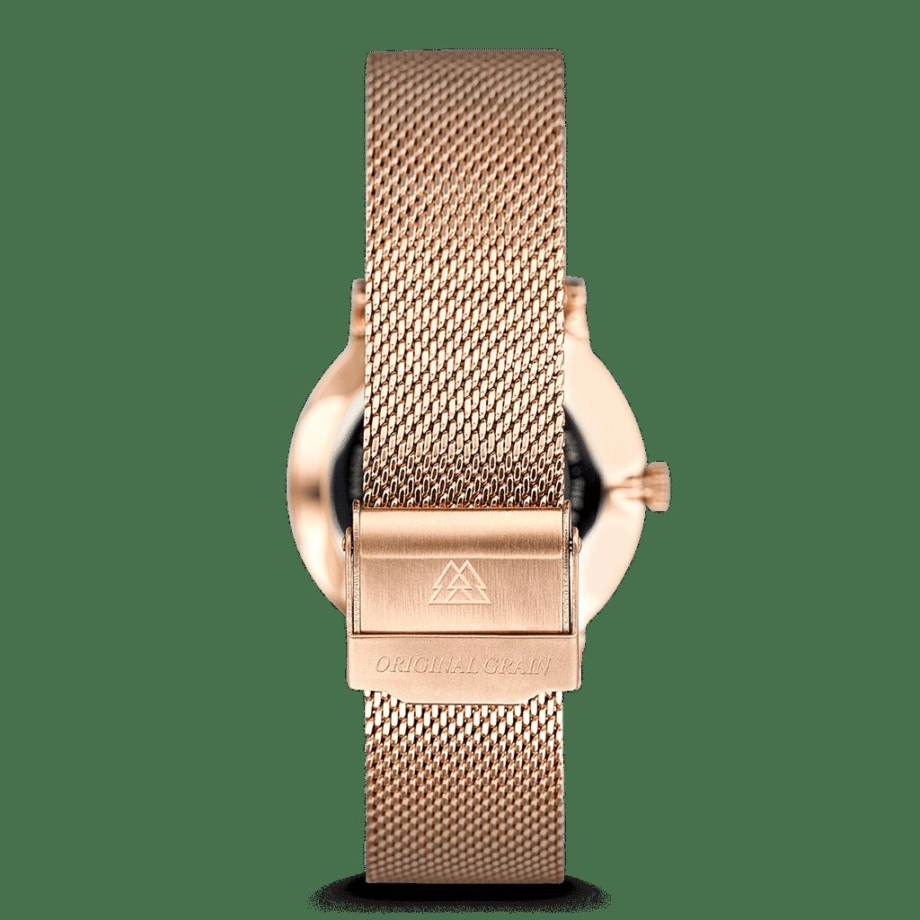 Zebrawood Rosegold Steel Womens Avalon 34mm