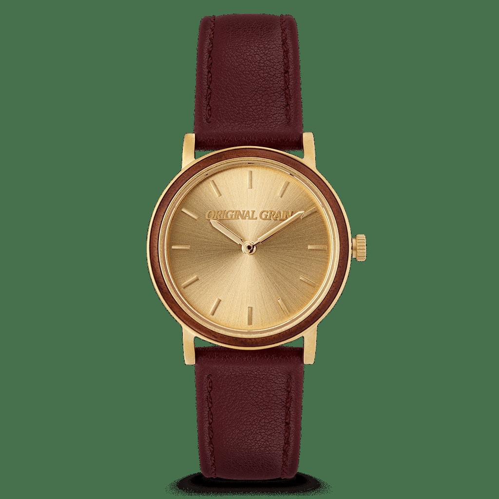 Walnut Gold Womens Avalon 34mm