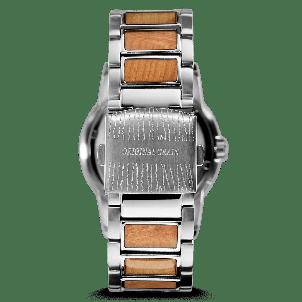 Burlwood Silver Barrel 42mm