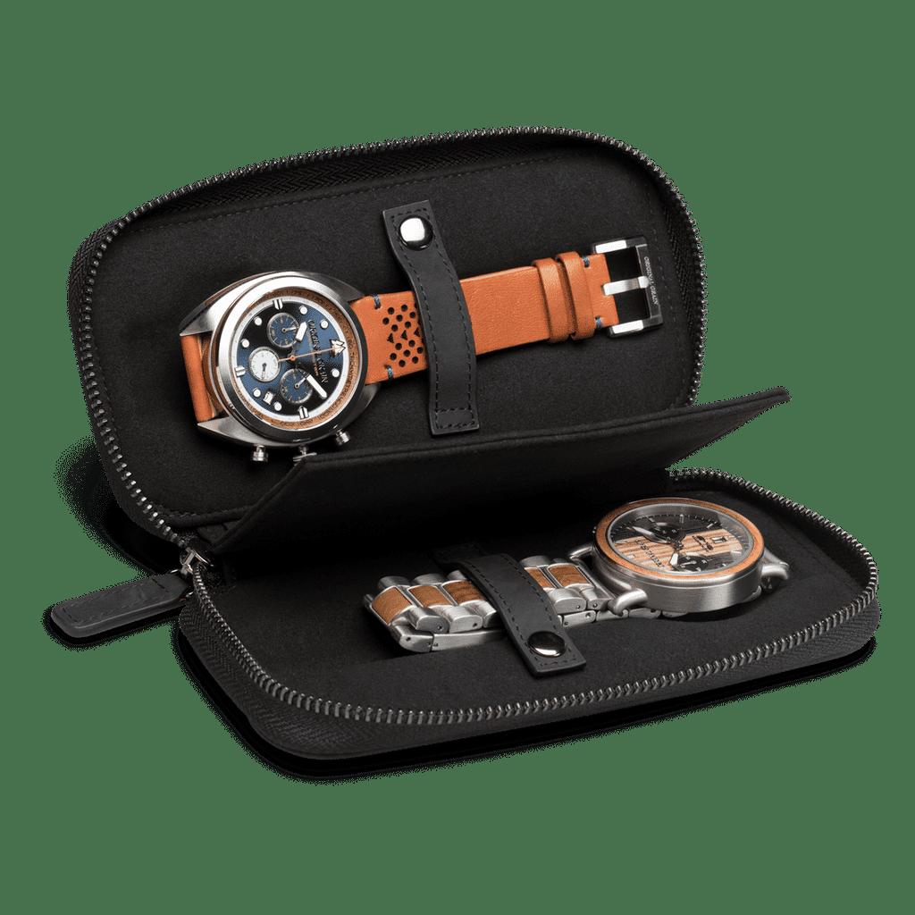 Original Grain Black Leather Watch Case