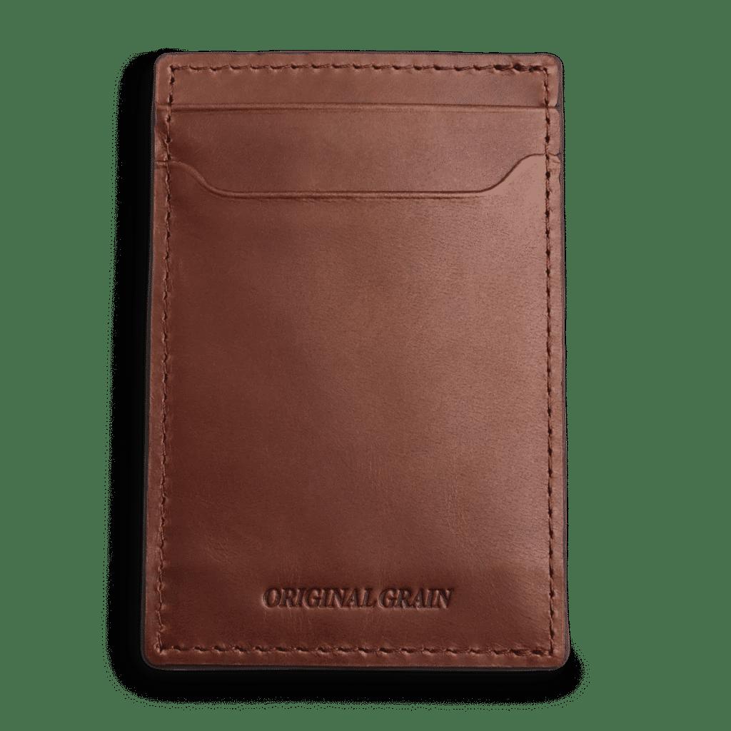 Brown Leather Wallet By Original Grain