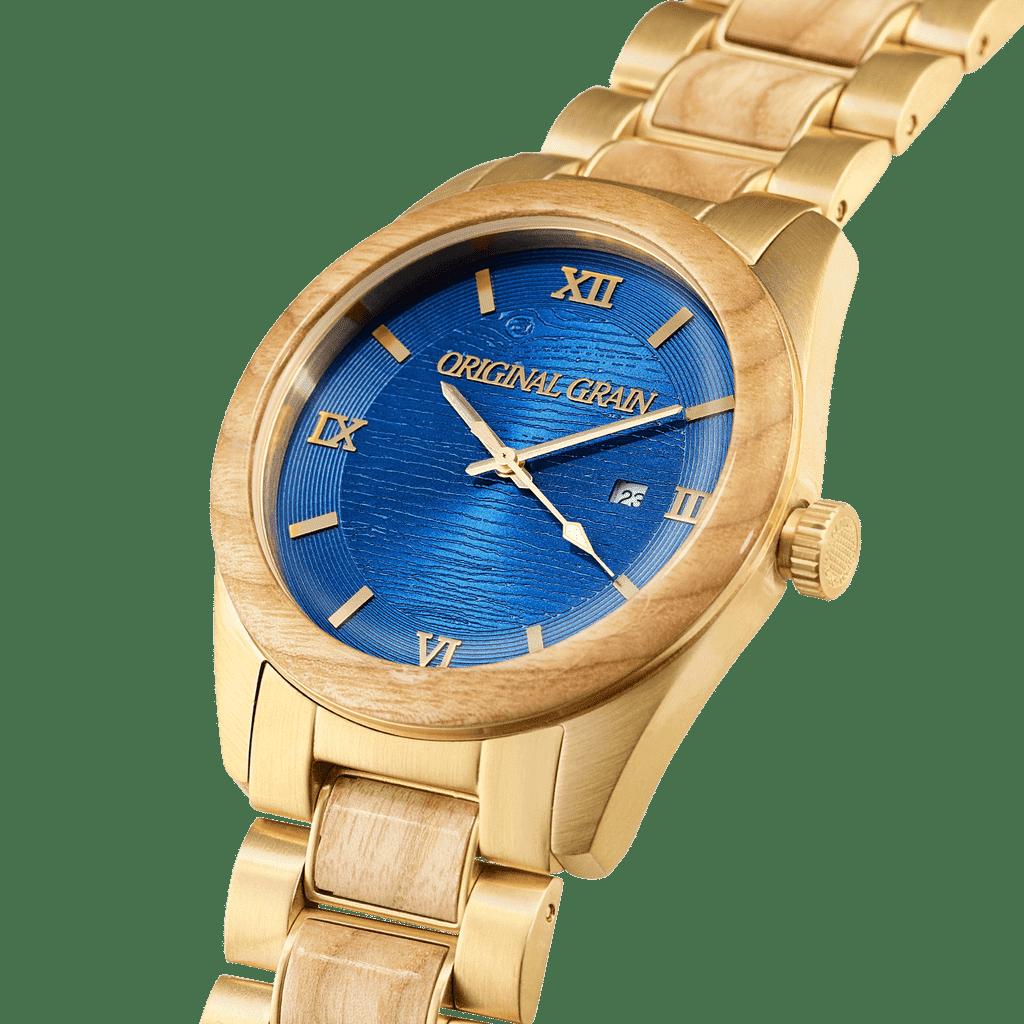 Ashwood Blue Stay Gold Classic 43mm