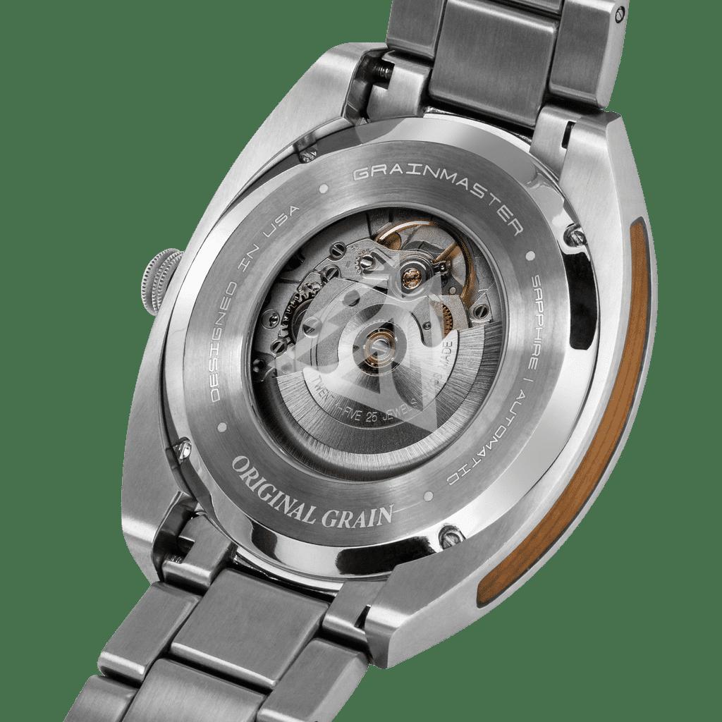 Burlwood Silver Grainmaster Automatic 45mm