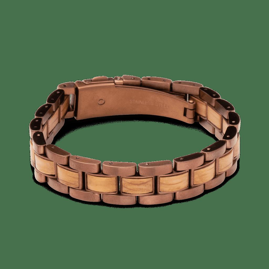 Whiskey Espresso Mens Moto Bracelet 12mm