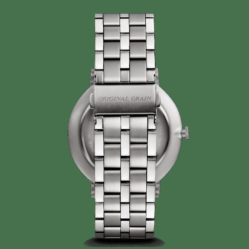 Mahogany Silver Steel Minimalist 40mm