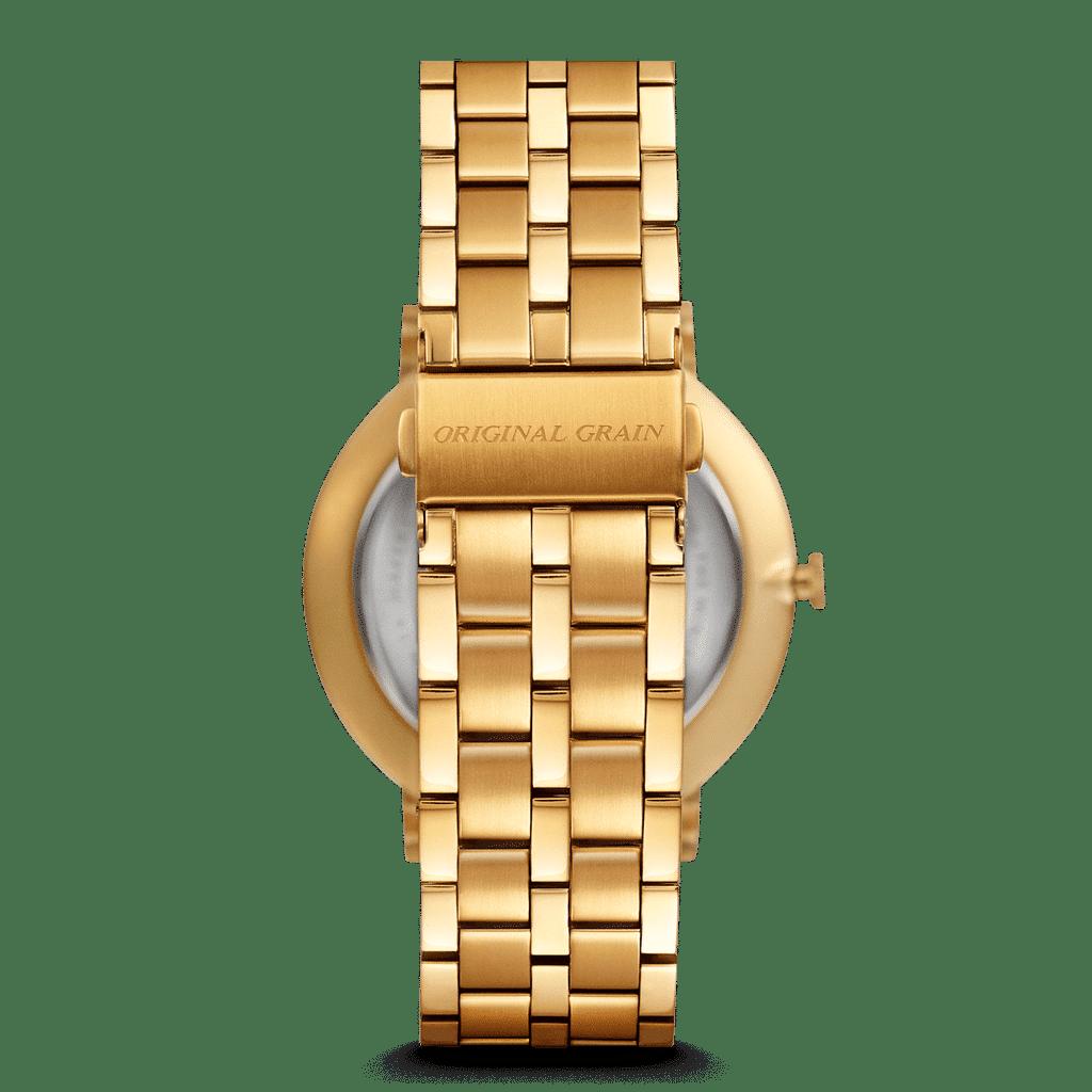Zebrawood Gold Steel Minimalist 40mm