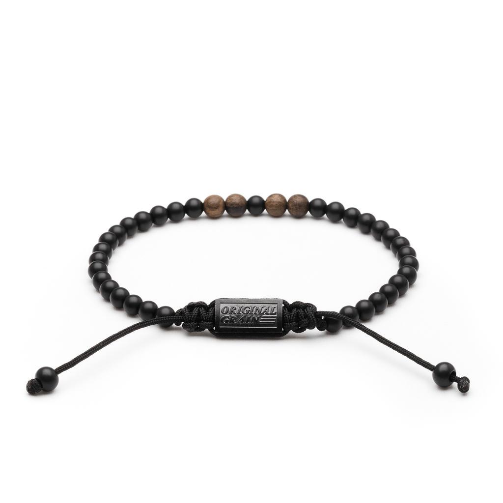 Ebony Onyx Macrame Bracelet 5mm By Original Grain