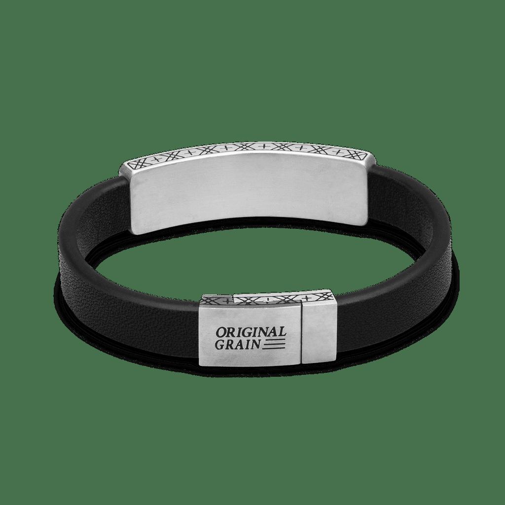 Ebony Zebrawood Leather Pendant Bracelet 10mm