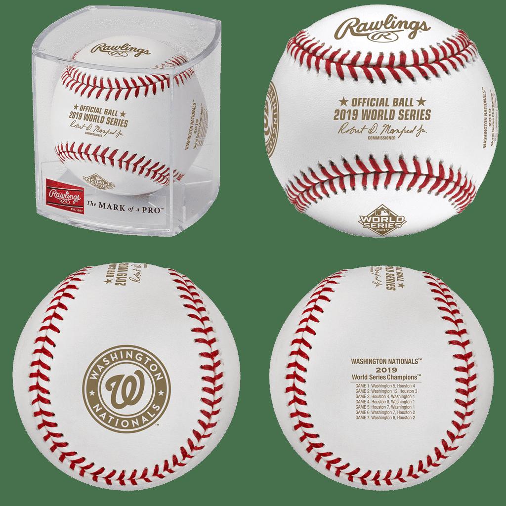 Nationals 2019 Rawlings World Series Chrono 44mm by Original Grain Official 2019 World Series Baseball