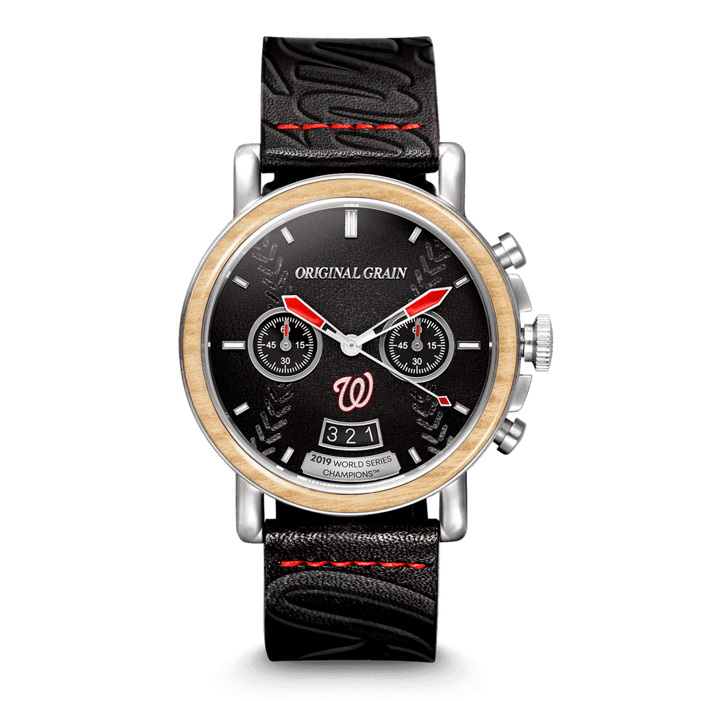 Nationals 2019 Rawlings World Series Chrono 44mm by Original Grain Leather Strap