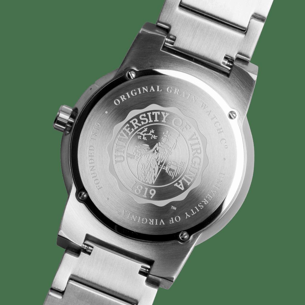 University of Virginia Barrel Set 47mm School Logo on back of watch