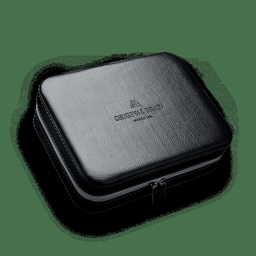 Black Leather Watch Case