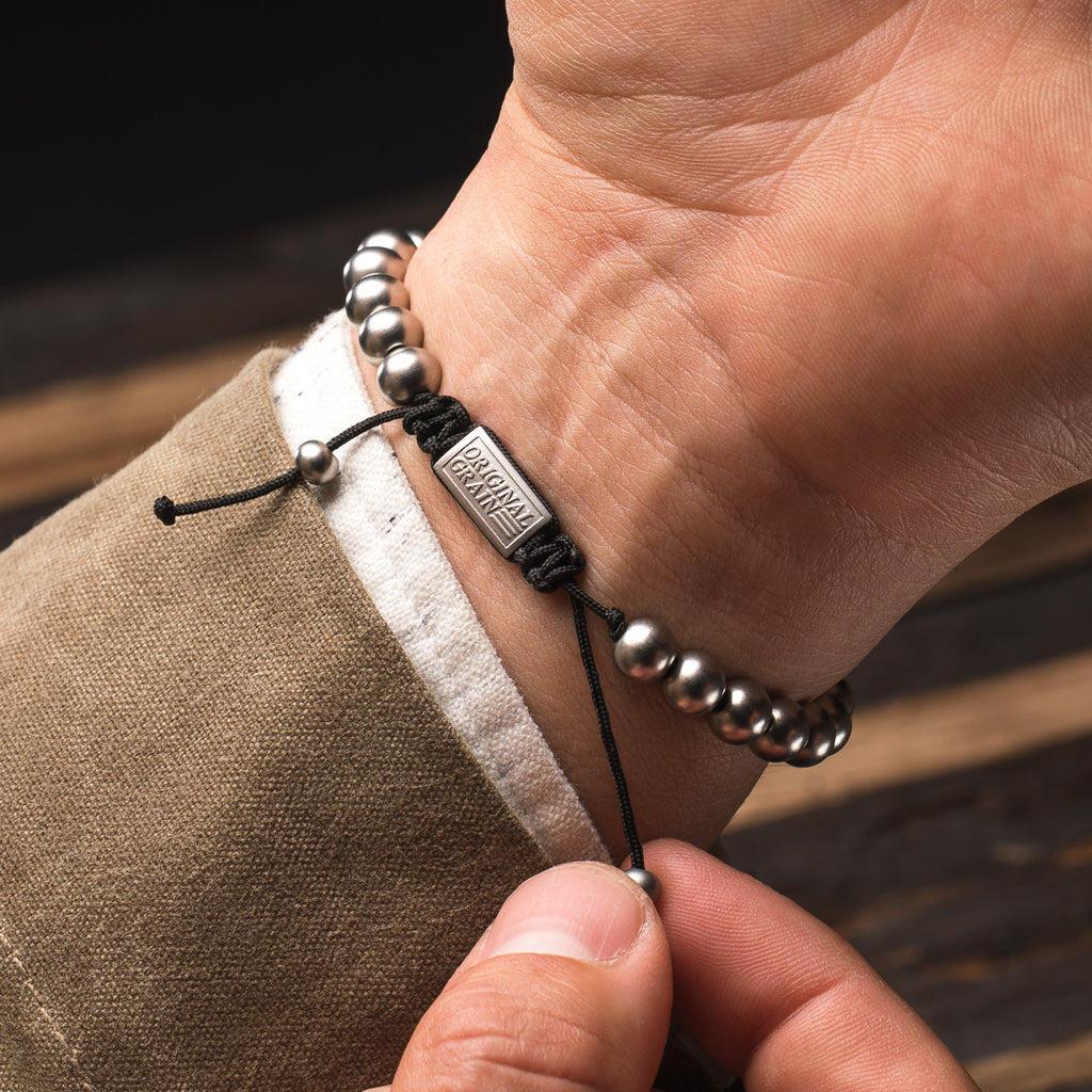 Brewmaster Steel Macrame Bracelet 8mm by Original Grain