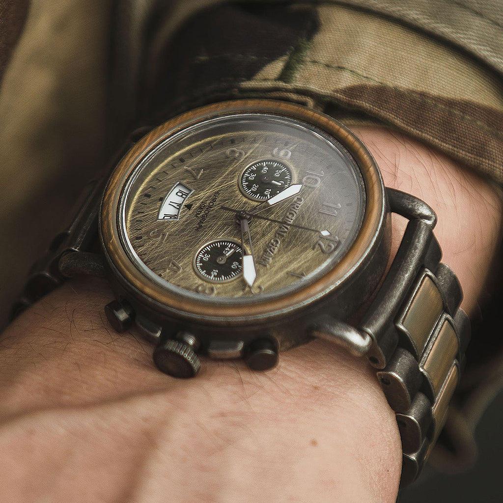Alpha Stonewashed Military Chrono Set 44mm