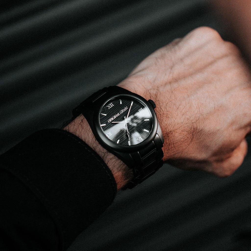 Blackwood Classic 43mm by Original Grain on a Man's Wrist