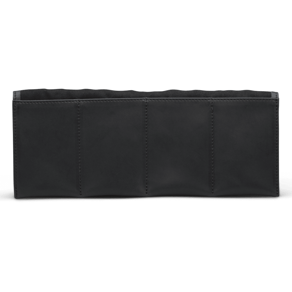Black Leather Watch Roll with No Watches Inside