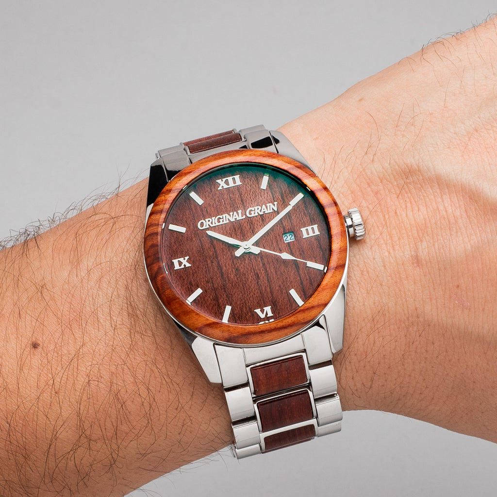Light Rosewood Chrome Classic 43mm | Original Grain