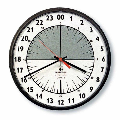 Skilcraft 24 Hour Slimline Wall Clock 12 3 4 Diameter By Lc Industries Lci101652 Ontimesupplies Com