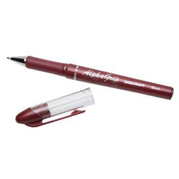 SKILCRAFT Ballpoint Pen - Medium Pen Point Type - Refillable - Red - 1Dozen