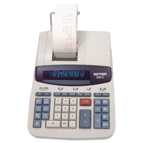 2640-2 Two-Color Printing Calculator, Black/Red Print, 4 6 Lines/Sec
