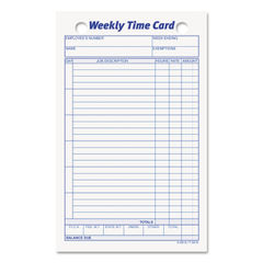 TOPS™ Weekly Employee Time Card Thumbnail
