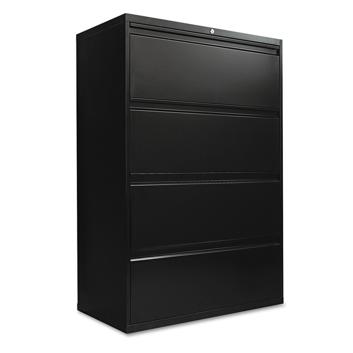 Four Drawer Lateral File Cabinet 36w X 18d X 52 1 2h Black