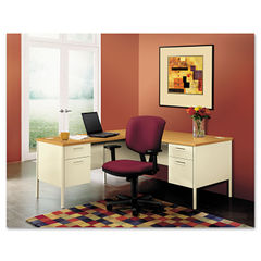 "HON® Metro Classic Series Single Pedestal ""L"" Workstation Desk Thumbnail"