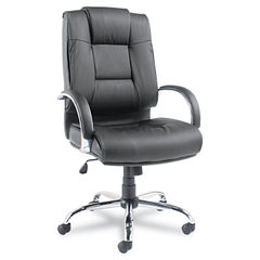 Alera® Ravino Big and Tall Series High-Back Swivel/Tilt Leather Chair Thumbnail