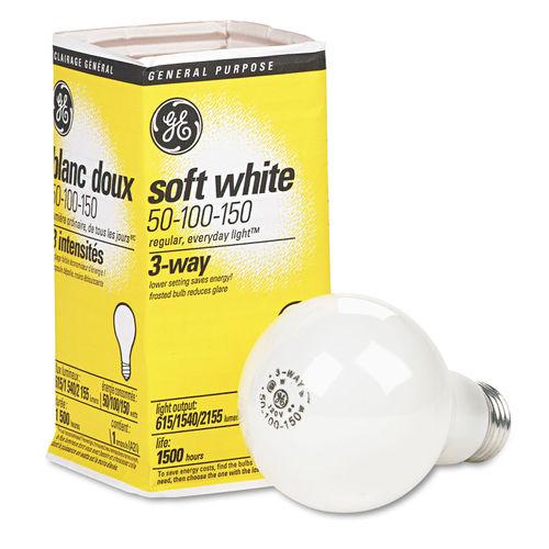 Incandescent Soft White 3 Way A21 Light Bulb 50 100 150 W