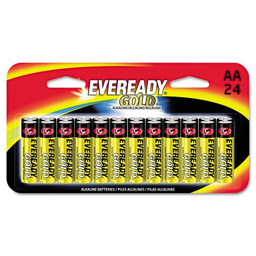 Gold AA Batteries 1 5V 24 Pack