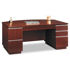 Bush® Milano2 Collection Bow Front Double Pedestal Desk Thumbnail