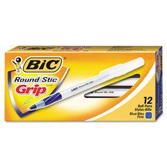 BIC® Round Stic® Grip Ballpoint Pen