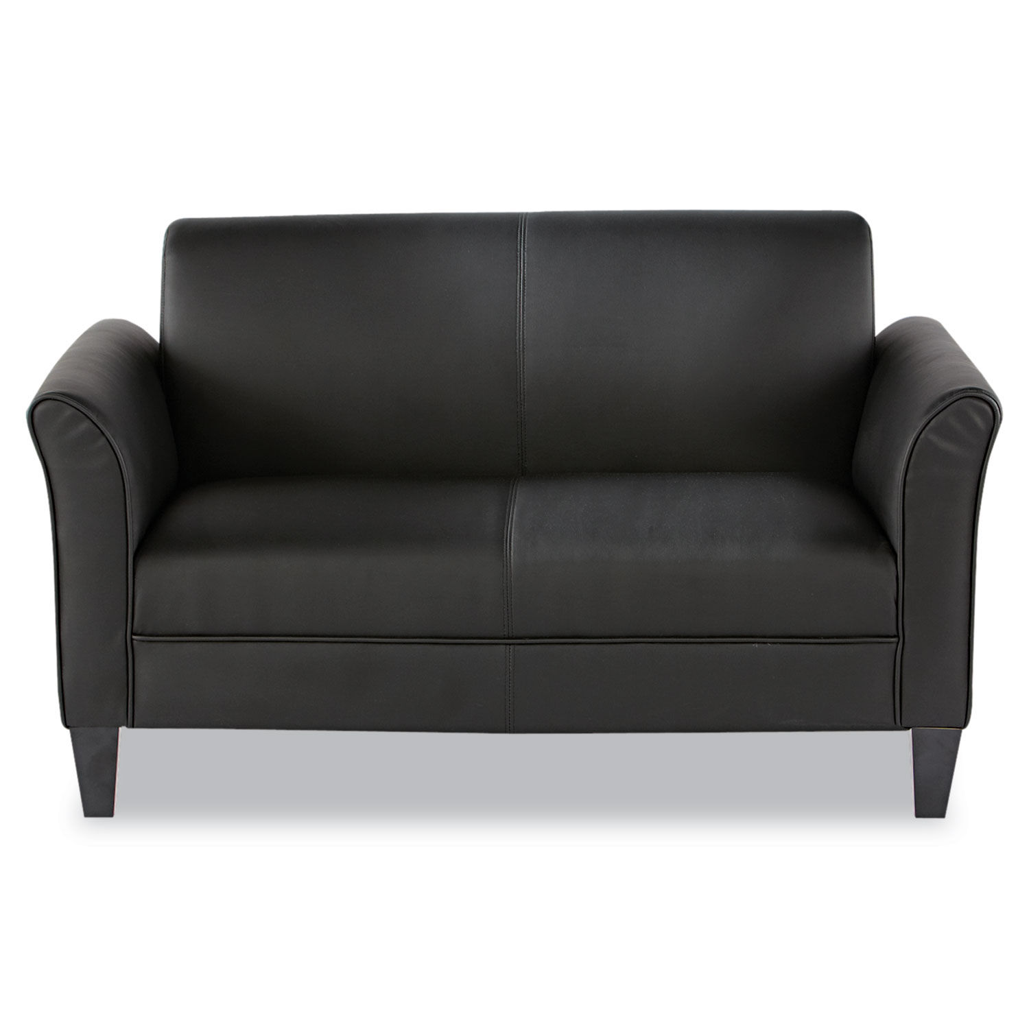 Astonishing Alera Reception Lounge Furniture Loveseat 55 1 2W X 31 1 2D X 32H Black Gmtry Best Dining Table And Chair Ideas Images Gmtryco
