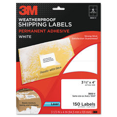 3M Permanent Adhesive White Weatherproof Address Labels