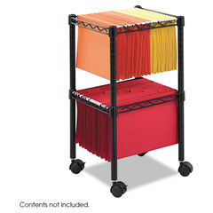 Safco® Two-Tier Compact Mobile Wire File Cart Thumbnail