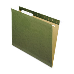 PFX415213 - Reinforced Hanging File Folders, Letter Size, 1/3-Cut Tab, Standard Green, 25/Box