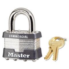 Master Lock® No. 1 Laminated Steel Pin Tumbler Padlock 1DCOM Thumbnail