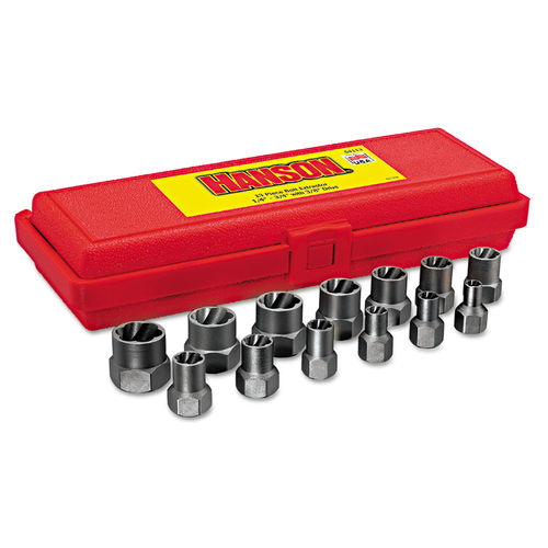 13-Piece Bolt Extractor Set, 3/8in Drive, 1/4