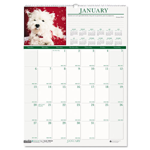 Cute Puppy Calendar by House of Doolittle.
