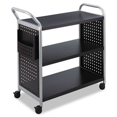 Safco® Scoot™ Three Shelf Utility Cart Thumbnail