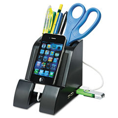 Victor® Smart Charge Pencil Cup™ with USB Hub Thumbnail