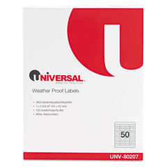 Universal® Weatherproof Permanent Adhesive Labels