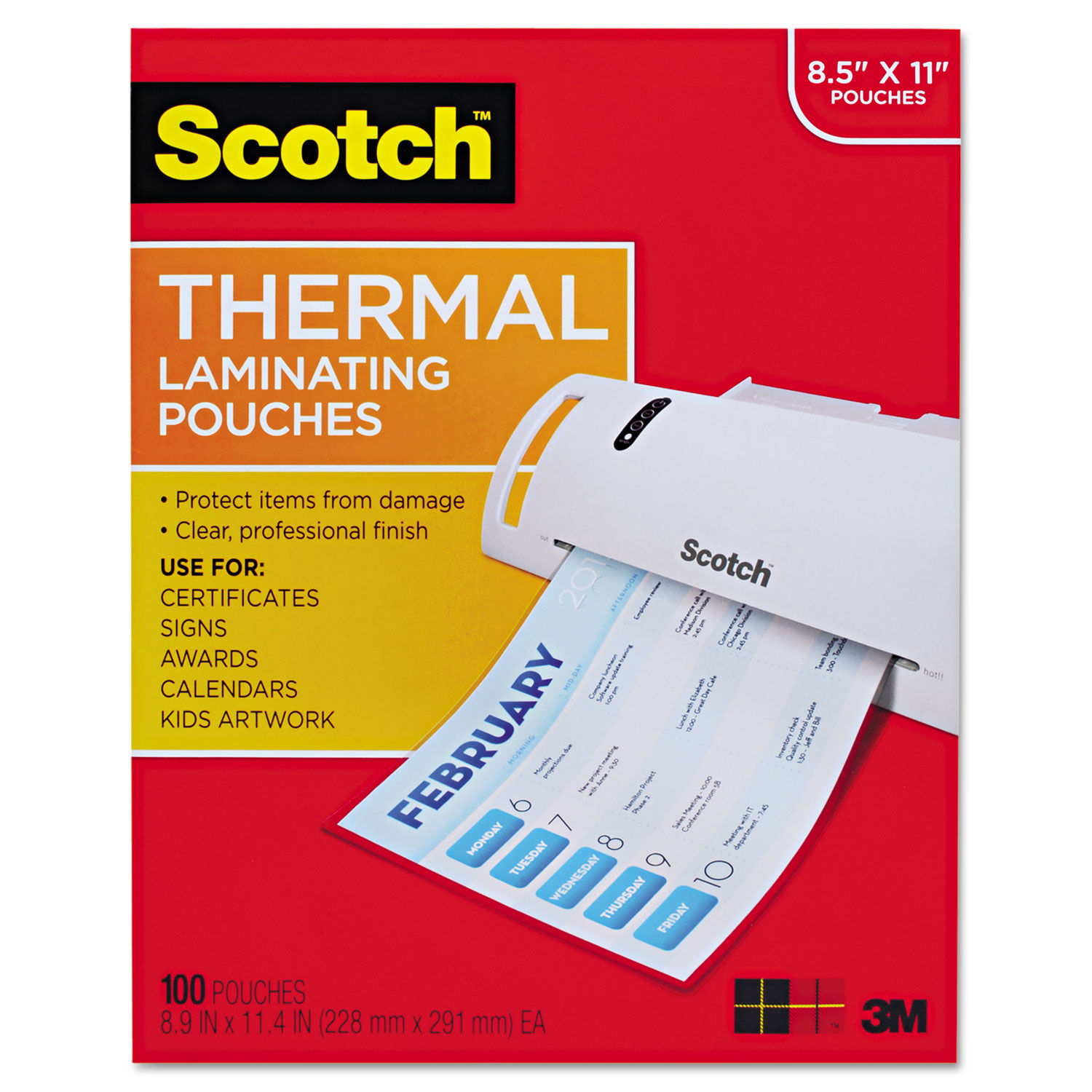 10 mil Letter Laminating Pouches 9 x 11-1//2 Hot Qty 100