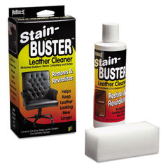 "MAS18071 - Restor-It Stain-Buster Leather Cleaner, 8 Oz Bottle, 2"" X 6 3/4"" Pad"