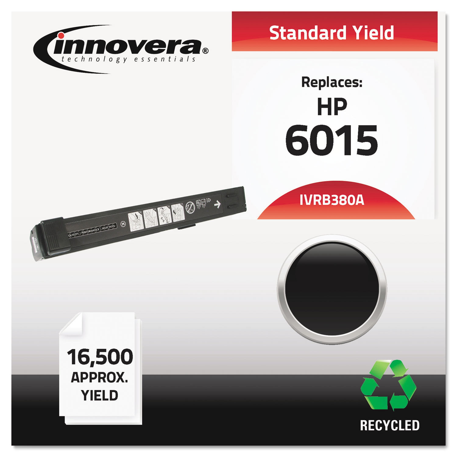 Remanufactured CB380A (823A) Toner by Innovera® IVRB380A