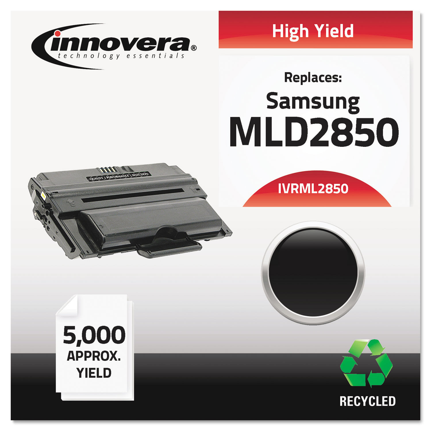 Remanufactured ML-D2850A High-Yield Toner, 5000 Page-Yield, Black