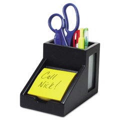 Victor® Midnight Black Collection™ Pencil Cup with Note Holder Thumbnail