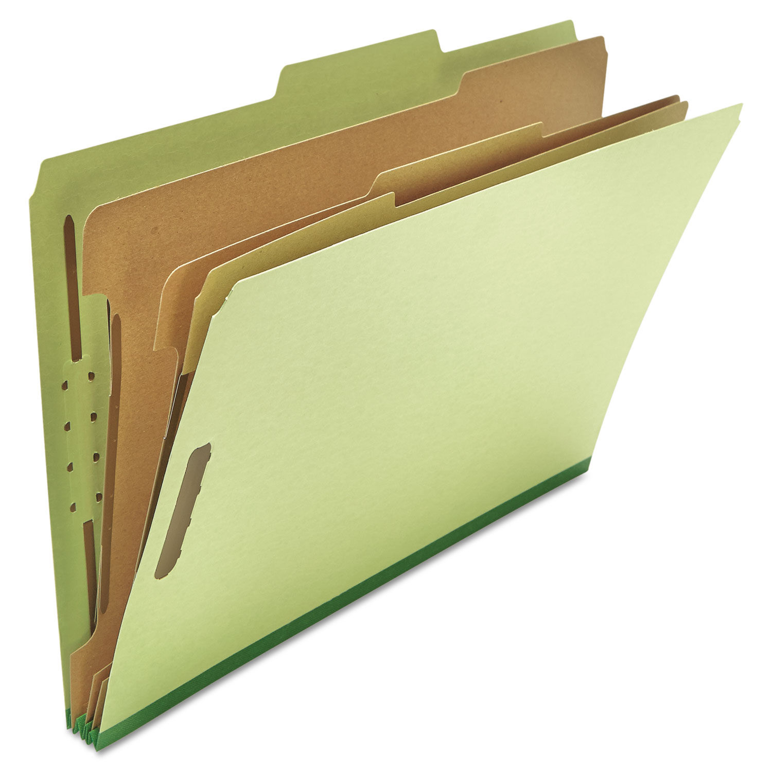 UNIVERSAL Pressboard Classification Folder Legal Eight-Section Green 10//Box