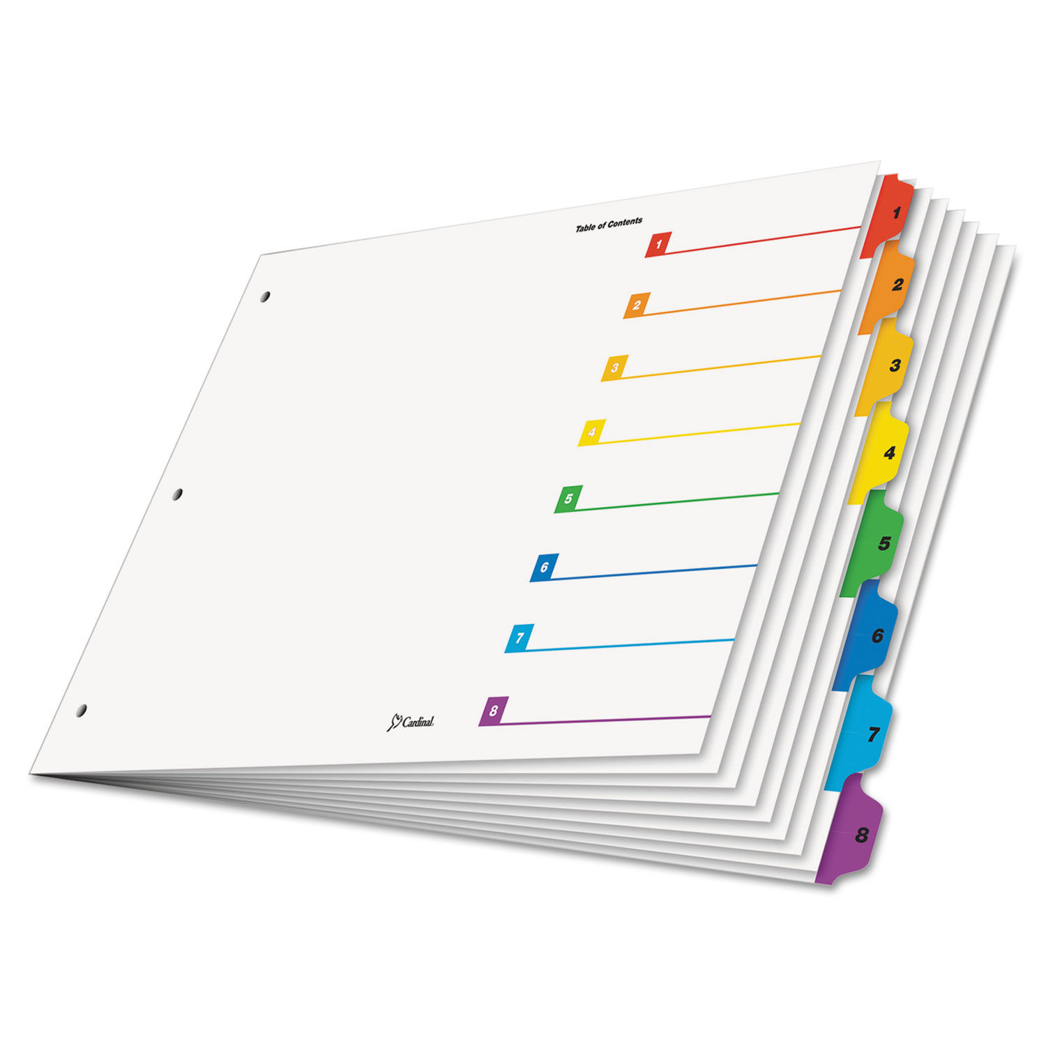 graphic regarding Printable Dividers for Binders titled OneStep Printable Desk of Contents Dividers, 8-Tab, 11 x 17, Multicolor Tabs