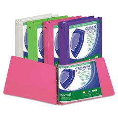 Samsill® Clean Touch™ Round Ring View Binder Protected with an Antimicrobial Additive Thumbnail
